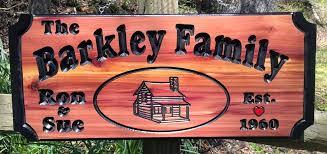 barkley wood sign