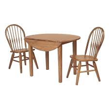 Shop Fruitwood Drop Leaf Round Dining Table Free Shipping Today