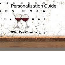 Personalized Wine Eye Chart Sign
