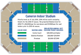Duke Basketball Seating Chart Cameron Indoor Stadium Seating Chart Cameron Indoor Stadium