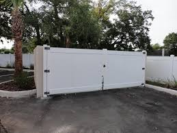 vinyl fence double gate. Vinyl Fence Double Gate