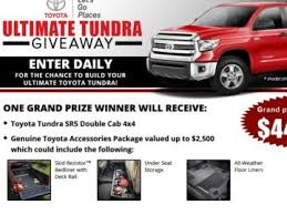 Bassmaster Toyota Tundra Ultimate Truck Giveaway Sweepstakes