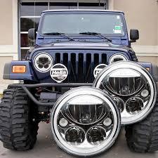 1996 2006 jeep wrangler tj led headlight kit chrome vision x Wiring Harness Connectors Vortex Wiring Harness #33