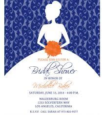 Bridal Shower Invitation Templates Interesting Great Blue Bridal Shower Invitations 48 For Your Invitations