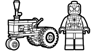 Small Picture Lego Spiderman and Lego Tractor Coloring Pages Coloring Book Kids