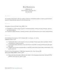 Resume Sample Template Letter Resume Collection