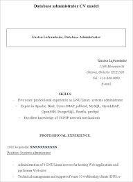 Sample Database Administrator Resume 9 Documents In Word Pdf