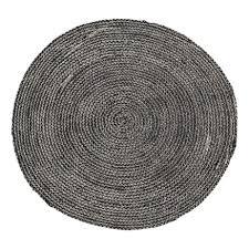 round seed hemp rug d100cm
