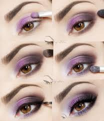 gorgeous purple makeup tutorial perfect brown eyes