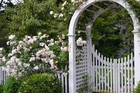picket fence gate with arbor. Our 5x5x54\ Picket Fence Gate With Arbor