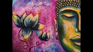 how to paint buddha step by step acrylic painting on canvas for beginners