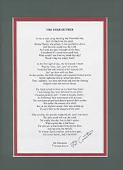 matted poem green red
