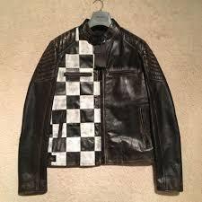 belstaff burnell cafe racer leather jacket black size it 48 uk 38 rrp