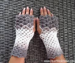 Crochet Gloves Pattern Classy Dragon Tears Fingerless Gloves Crochet Pattern Heart Hook Home