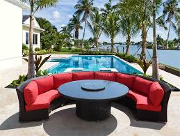 coastal collection cassandra round outdoor wicker dining sofa set patio furniture 2 chaise lounges save 679