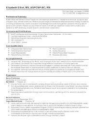 Awesome Resume For Nurse Practitioner Images Simple Resume