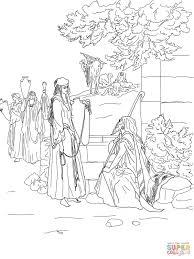 Eliëzer En Rebekka Kleurplaat Gratis Kleurplaten Printen