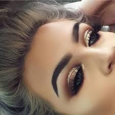 gold smokes gold glitter eyeshadow gold eye makeup prom eye makeup small eyes