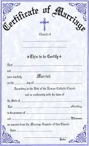 Church Marriage Certificate Template Church Marriage Certificate