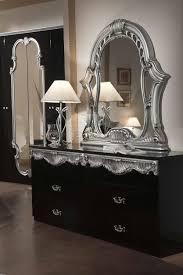 Silver Furniture Bedroom Modrest Rococo Italian Classic Black Silver Bedroom Set