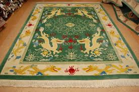 9 3 x 11 hand knotted circa 1960 s vintage wool chinese art deco dragon design rug 12980555 goodluck rugs