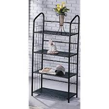 metal book shelves. Wonderful Metal Book Shelf 4 Tier Metal Shelves  Black Intended S
