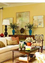 yellow walls yellow living room