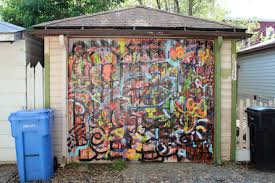 garage door artBedazzle Your Garage Artist Turns South Side Alleys Into