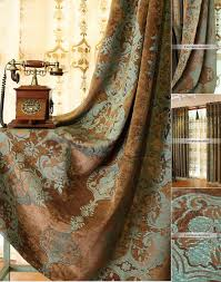 country style window curtains in chenille fabric for good quality