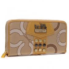 Coach Waverly Stud In Signature Large Yellow Wallets AGU