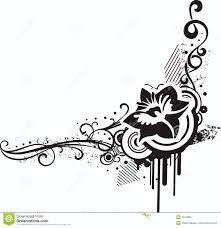 Clipart Design Black White Floral Designs Stock Vector Illustration Of Elements