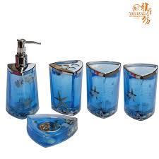decoration blue bathroom accessories