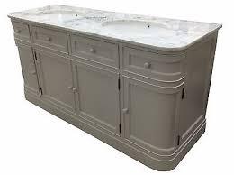 traditional double sink bathroom vanities. 1 Of 2 Traditional Painted Hargrave Double Sink Bathroom Vanity Cabinet Unit Marble Top Vanities