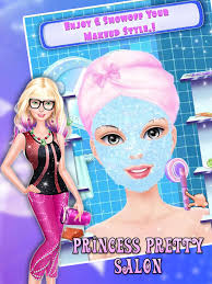 princess pretty salon spa makeup dress up s game 4