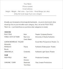 Acting Resume Beginner Part 150 Resume Template For High School Students