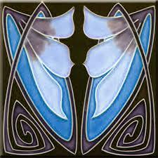6X6 Decorative Ceramic Tile Art Nouveau decorative Ceramic tile 600 X 600 Inches 60 by 32
