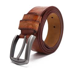 125cm mens business dress cow leather belt special printting belt with anti scratch buckle cod
