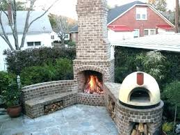 outside stone fireplace outdoor ideas pictures how to make ark