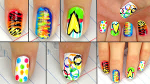 ♥ 5 Cute & Easy Back To School Nail Designs! ♥ - YouTube