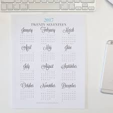 Weekly Planner 2017 In At A Glance My Week With Monthly Calendars