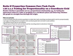 Grid Ratio Chart Proportions On Coordinate Grid Task Cards 7 Rp A 2 A Ratio Proportion Set A