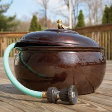 garden hose storage pot. Garden Hose Pot With Lid Copper Storage - Lee Valley Bronze Enamel Hider From Sportys Pilot Shop