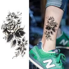 водостойкая временная татуировка наклейка роза цветок индивидуальная временная