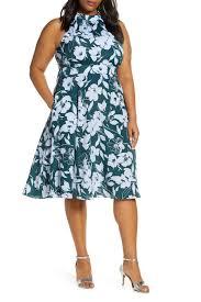 1901 Size Chart Nordstrom 1901 Floral Halter Fit Flare Dress Plus Size Nordstrom Rack