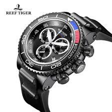 <b>Reef Tiger</b>/<b>RT</b> Top Brand Luxury <b>Military Watches</b> Black Steel ...