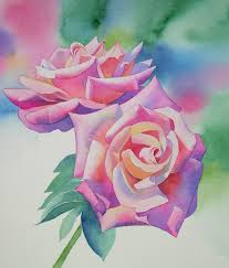 watercolor rose painting tutorial step by step