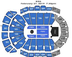 Sprint Center Detailed Seating Chart Kiss Sprint Center