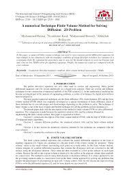 pdf a numerical technique finite volume method for solving diffusion 2d problem