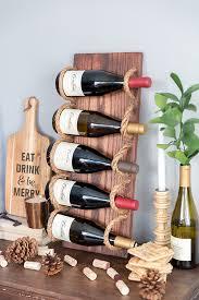 stylish wine rack. Perfect Wine Chic DIY Rustic Wine Rack With Rope To Stylish I