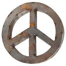 Metal Peace Sign Wall Decor